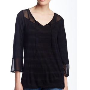 🍀 Lucky Brand Black Top Size Small 🍀